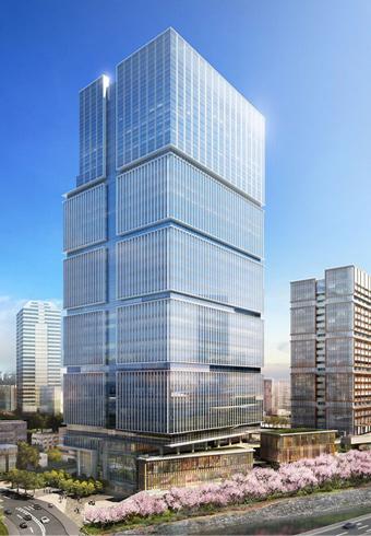 上層7フロアにホテルが入る高さ180mのオフィス・ホテル棟(イメージ)